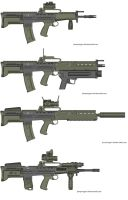 """SA00 """"sow"""" weapons family. by dukeleto"""