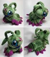 Digimon - Wormmom custom plush by Kitamon