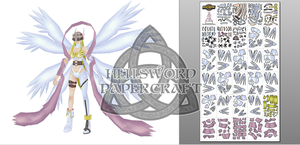 PREVIEW !! Digimon Angewomon Papercraft by HellswordPapercraft