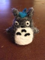 Needle Felted Totoro by MusePoetique