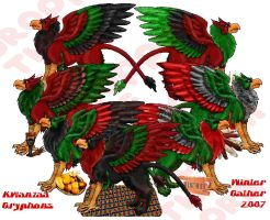 Kwanzaa Gryphons 2007 by lethe-gray