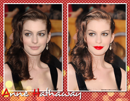 retouch Anne hathaway by d3bbyeglitter
