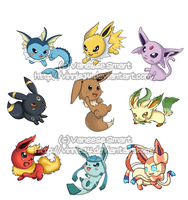 Eevee Evolutions by Vinnie14