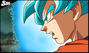 Goku SSJ Blue DragonBall Super by SaoDVD