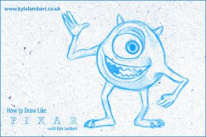 How To Draw Mike Monsters Inc by kyle-lambert