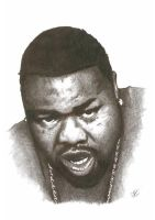 Biz Markie Pencil Sketch by DJMark563