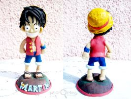 Chibi Monkey D Luffy Scuplture by margemagtoto