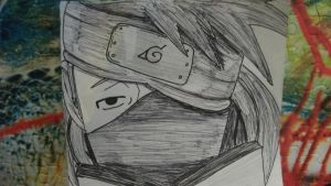 Kakashi sketch by lyrablaze