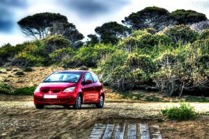 mitsubishi colt in HDR by Anestis9985