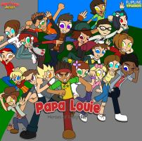 Papa Louie Heroes of Tastyville by Enderboy1908