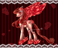 MLP dark rose adopt FIM auction Closed by AquaGalaxy