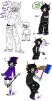 Gamzee Sketches by Squidbiscuit