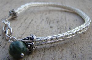 Seraphinite Bracelet by Mommy-of-Monsters