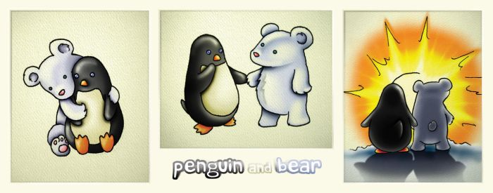 Penguin and Bear by begin-R