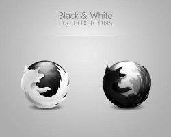 Black and White Firefox Icons by ewotion