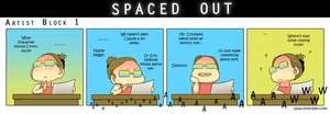 Spaced Out - Artist Block 1 by hinoraito