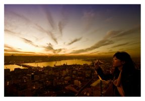 Sunset from the tower by kavsikuzah