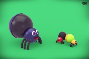3D Bug Modeling, Rendering by tuhin98