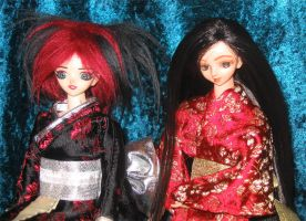 Kyle and Dana in kimonos by prettysewingmachine