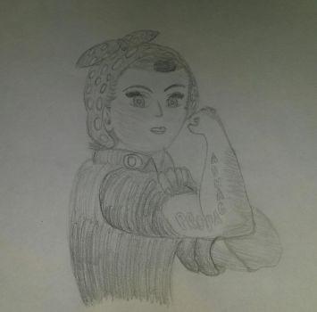 Shading/Anatomy Practice: Rosie the Riveter by Valora390