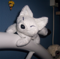 Mini magnet plush: kitsune by goiku