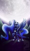 I am the moon by Japandragon