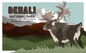 Denali Vector Poster by TheOutli3R