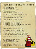Dalek Santa is coming to town by caycowa