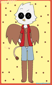 rico the griffin (art trade) by blueiceegirlart
