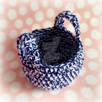 New England Crochet Beach Basket by MadameWario