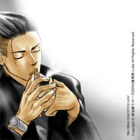 crows zero Genji Smoking by ijiken