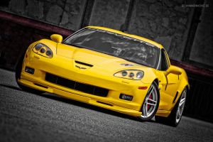 yellow Corvette C6 Z06 by AmericanMuscle