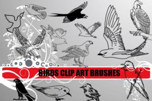 Bird Clip Art Photoshop Brushe by fiftyfivepixels