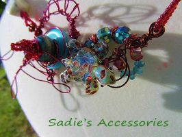 By the Sea Wire-Wrapped Necklace by SadiesAccessories