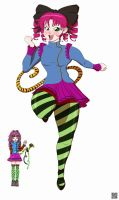 Adrianne the Mime Vampire Full Colors by mkonstantinov