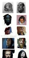many portraits speed art by kanartist