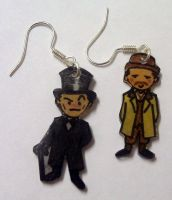 Jeremy Brett Sherlock earrings by Lovelyruthie