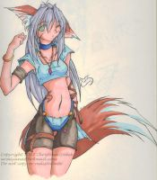 Kitsune Girl - Kaili by firekitty