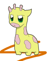 The Pouting Giraffe :Colored: by luukie