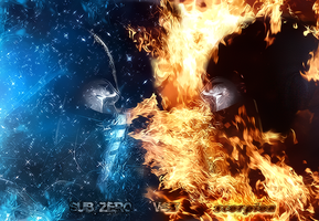 subzero vs scorpion by d7mey