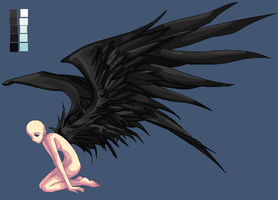 Black-Winged Angel Base by Phoenix976