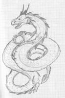 Chinese dragon sketch by SWJediKnight