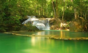 Erawan Waterfall II by comsic