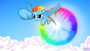 Rainbow Dash Sonic Rainboom 16.9 by mysticalpha