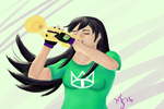 trumpeting Jade by Meeowy
