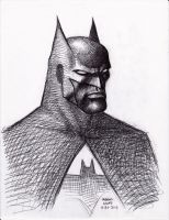 Batman pen sketch 6-23-2013 by myconius