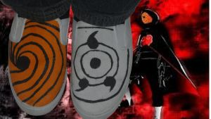For Sale -Naruto Shippuden Both Tobi Masks Shoes by Rudolftheclown