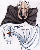 General Grievous morning doodles by PurpleRAGE9205