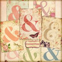 AMPERSAND SIGN digital collage sheet, vintage by miabumbag