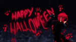 Lovely Halloween greeting from Maxwell by ValeryScar